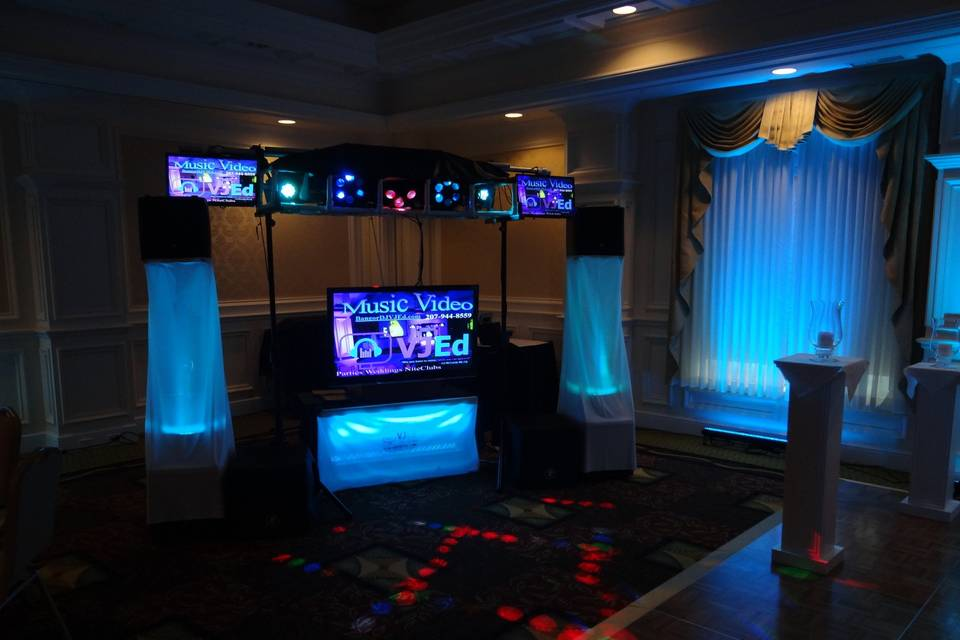 Range of uplighting colors available