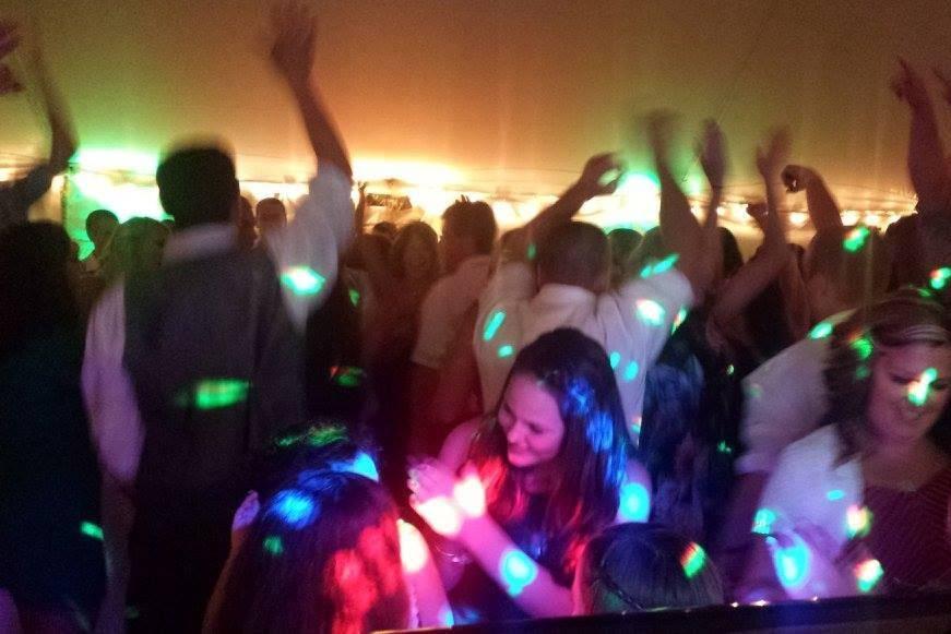 Dance floor and disco lights