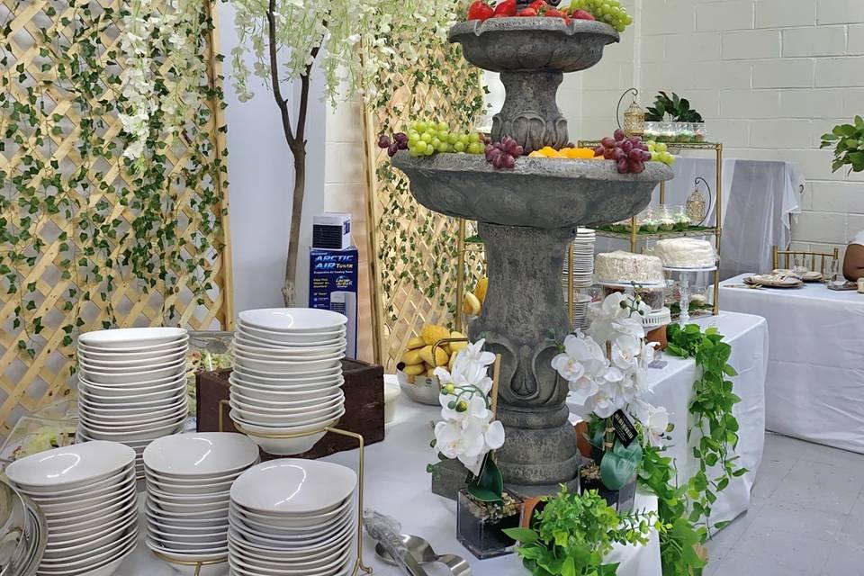 Garden-theme Food Table
