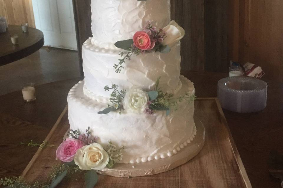 cake with florals