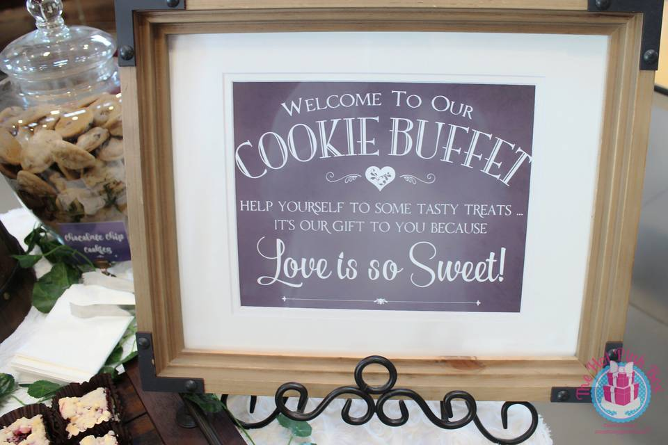 Cookie Buffet Signage