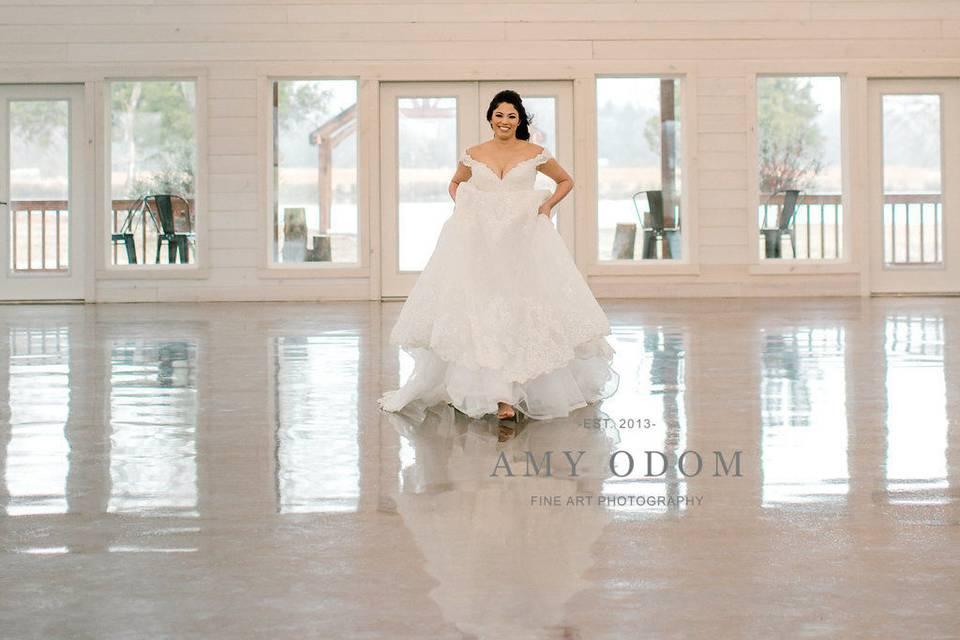 Bride inside the venue