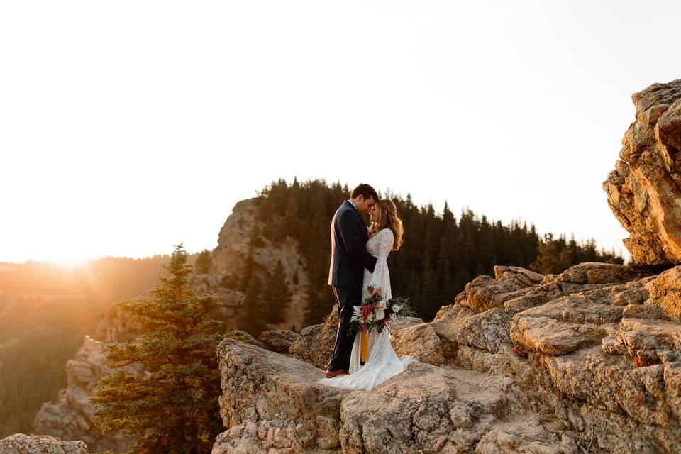 Mountainside elopement