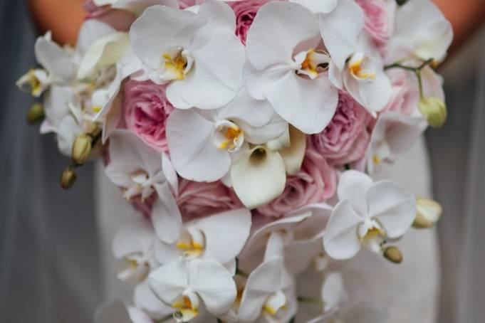 Bouquet with halaenopsis orchids
