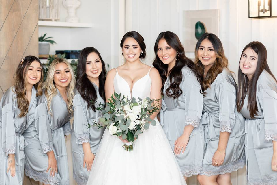 Bride tribe by her side