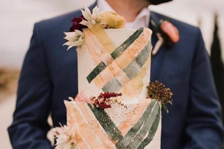 Woven Wedding Cake