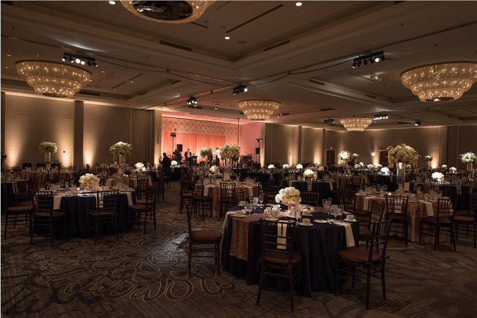 Wedding reception prepared for guests