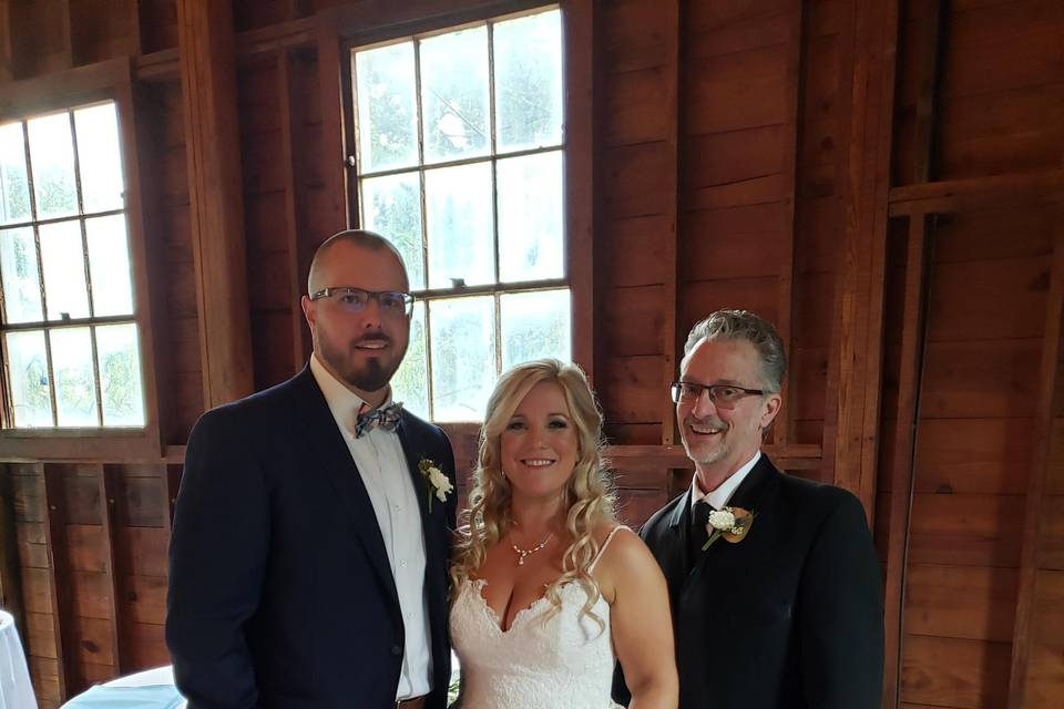 Blessings to Renee and James!