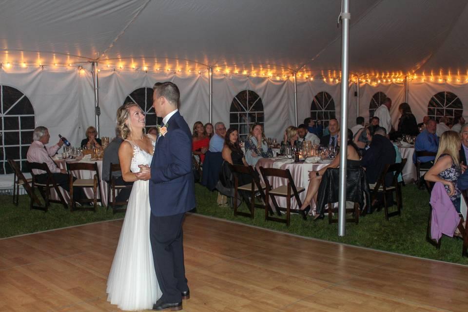 First Dance Tent Wedding