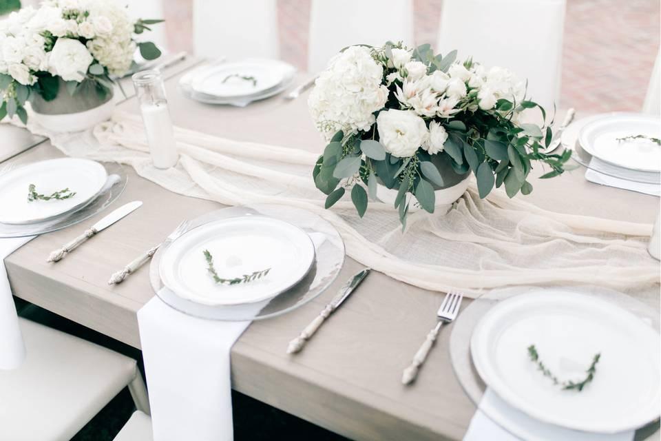 Simple table setup