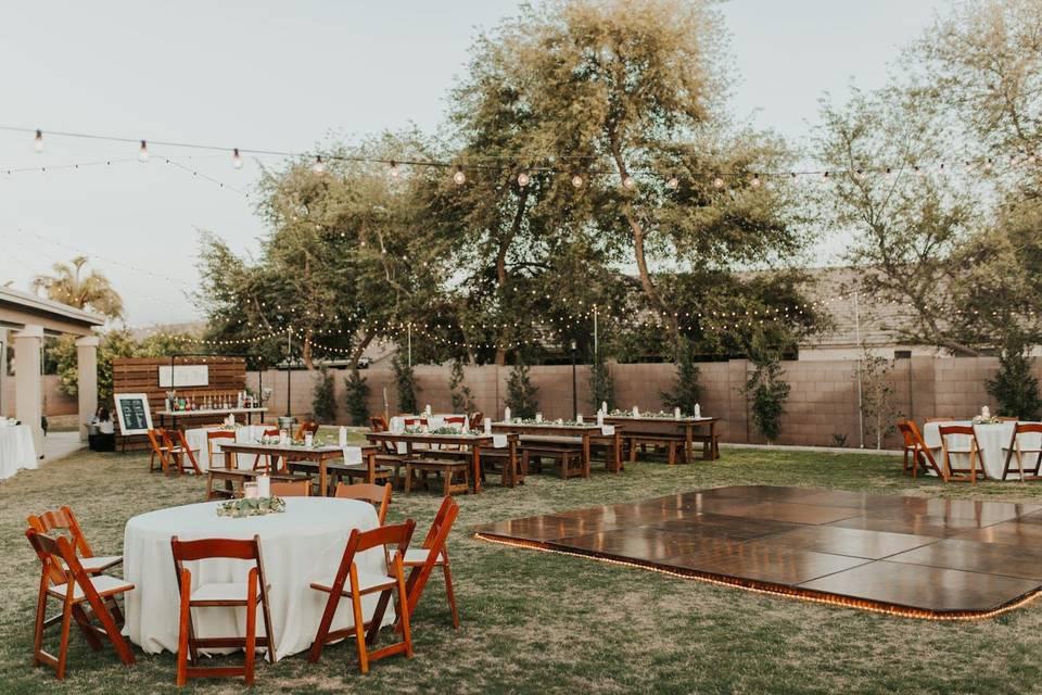 Backyard Reception Set Up