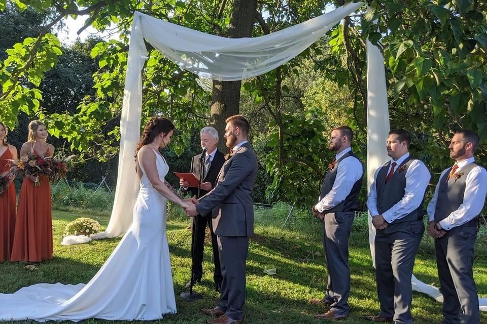 Wedding under Princess Tree