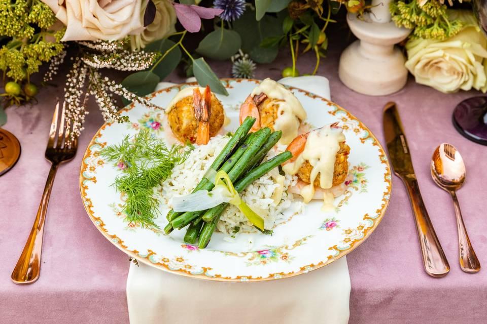 Butterflied Stuffed Shrimp