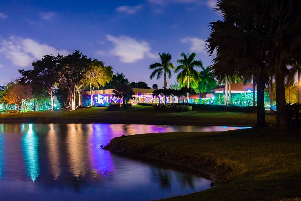 The country club by night