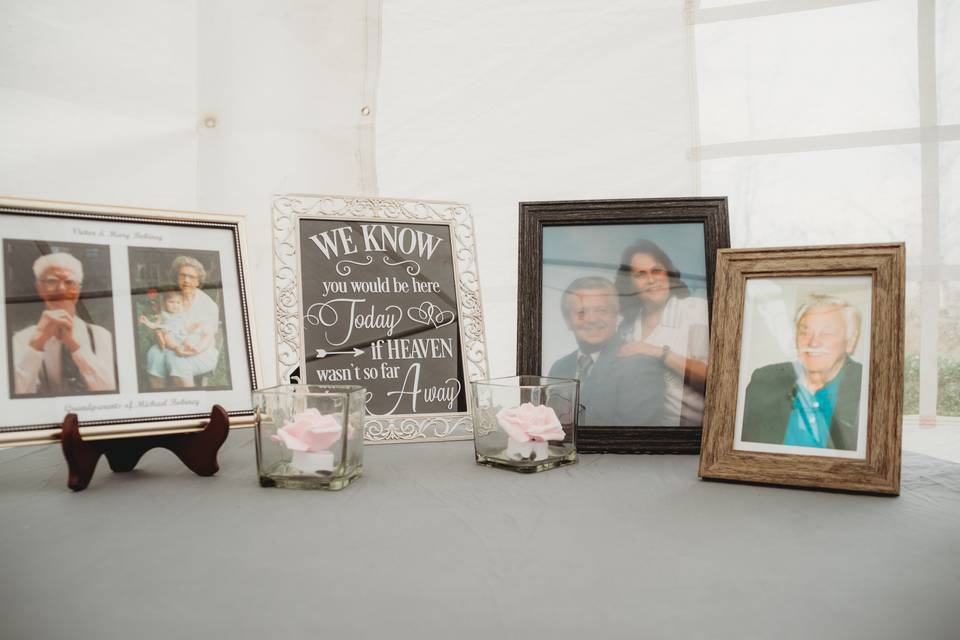 Memory table signage