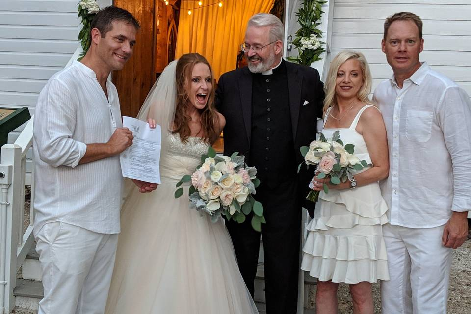 Mary's Chapel wedding