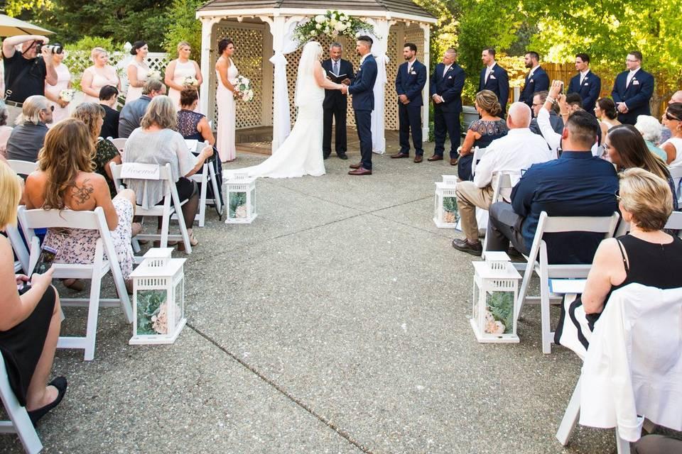 Gazebo Wedding Ceremony in Summer