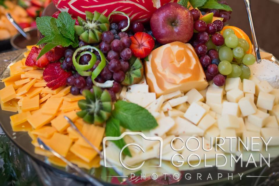 Wedding cake cheese presentation