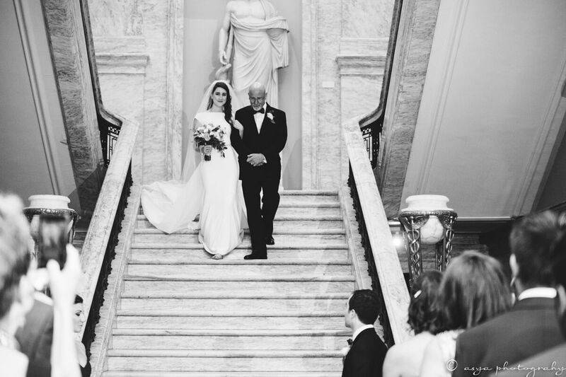 Walking to the aisle