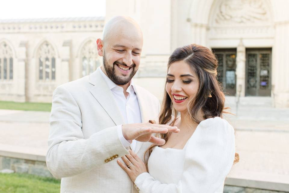 Latina elopement soft glam