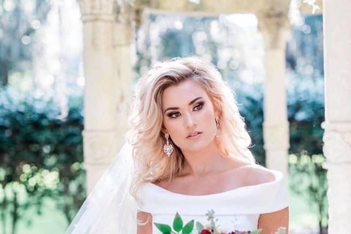 A glam bride