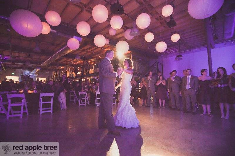 Newlyweds Red Apple Tree Photography Studio Reception