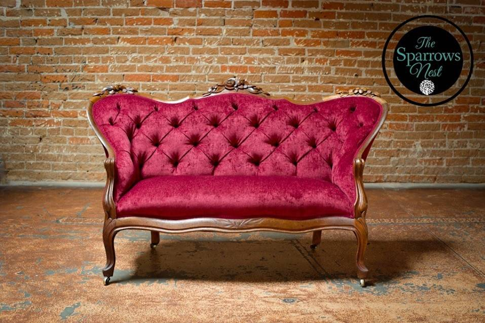 Ruby Red Sofa