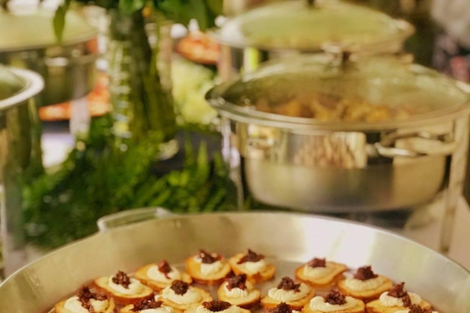 Crostini on Buffet