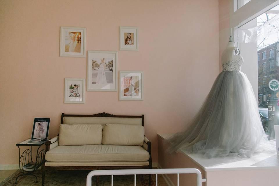 Wedding dress display