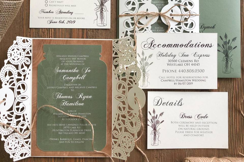Rustic card assembly