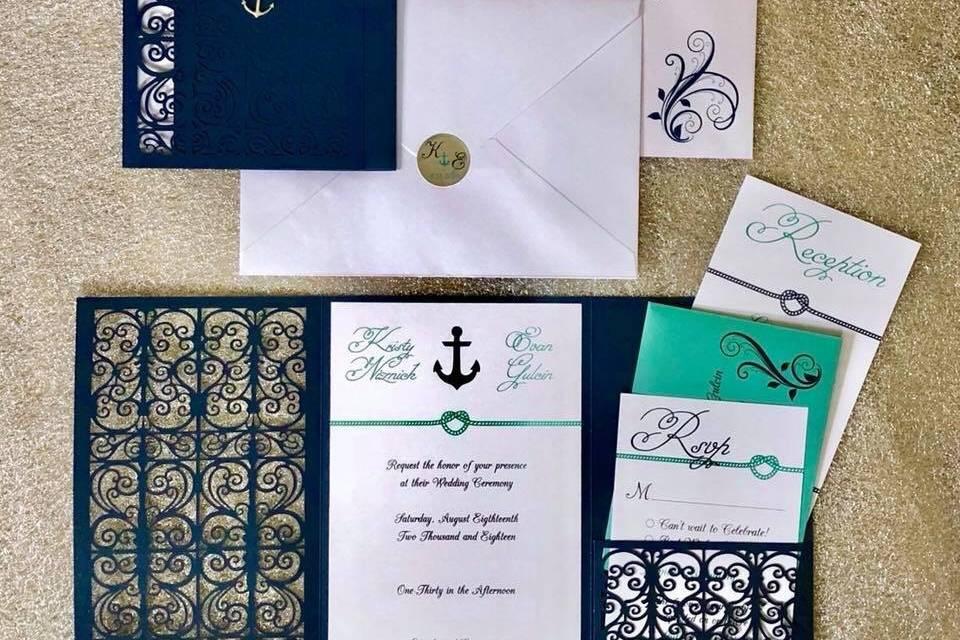 Nautical themed stationery