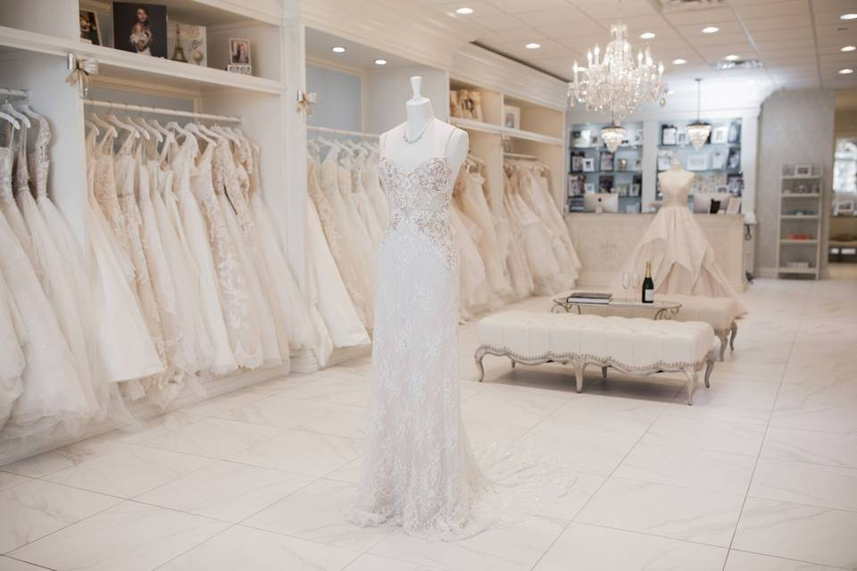 Wide selection of gowns
