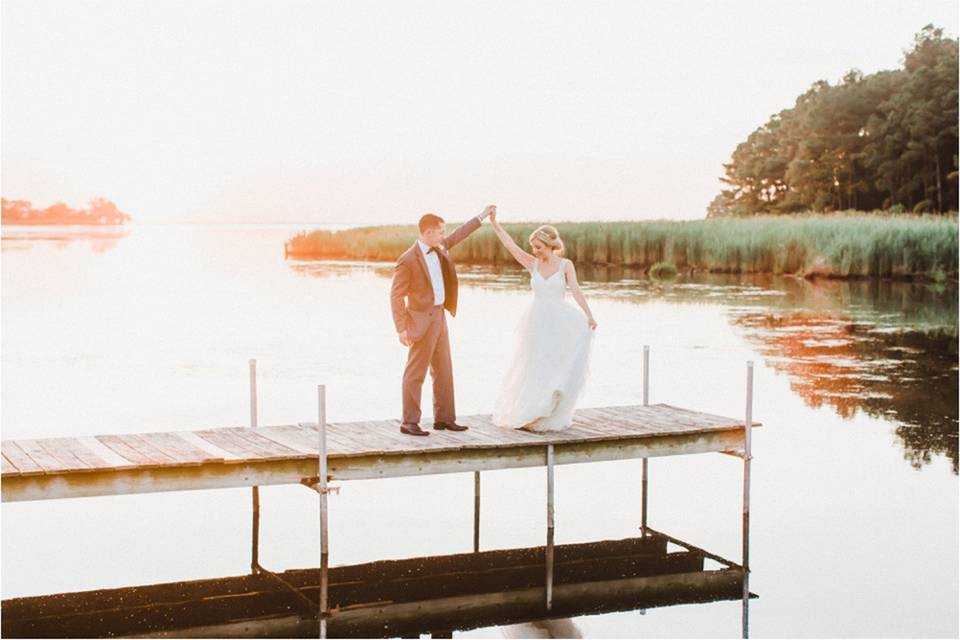 Couple at the dock