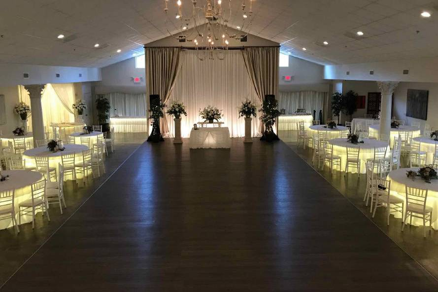 Grand ballroom dance floor