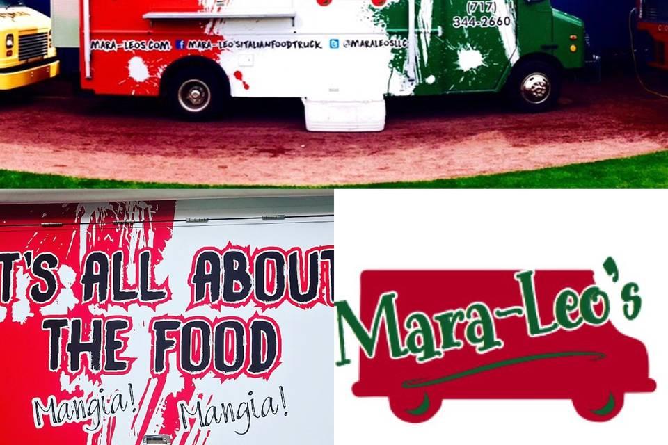 Logo, side of truck