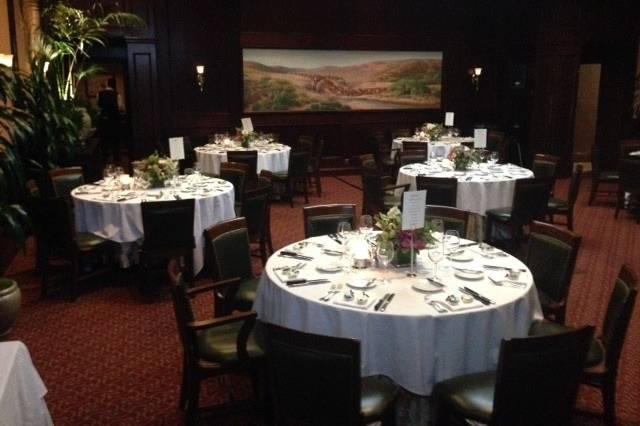 The Skylight Room set for 56 guests