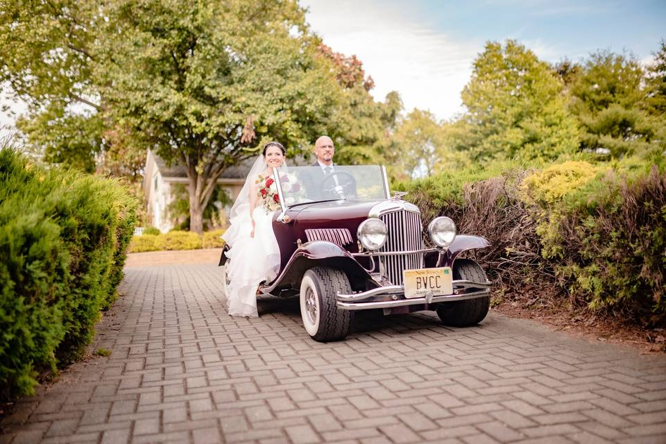 Our wedding chariot
