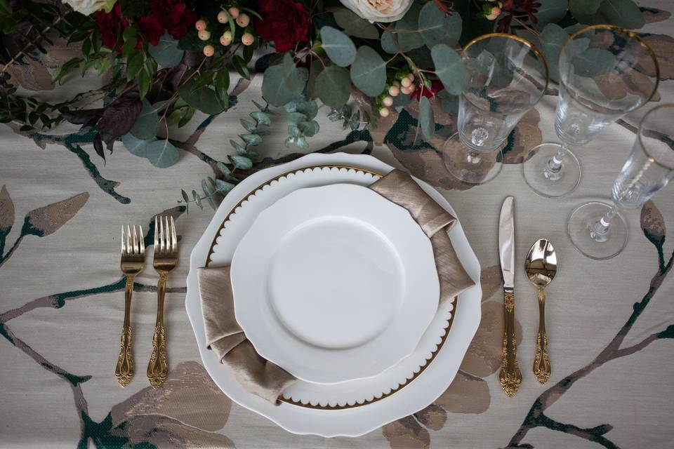 Winter Wedding Table scape