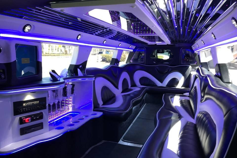 SUV 14 Limo Interior