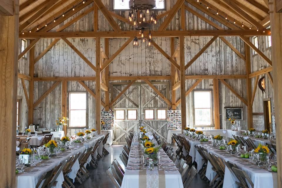 High-beamed ceilings