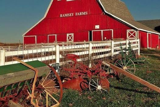 Exterior of the barn from the field