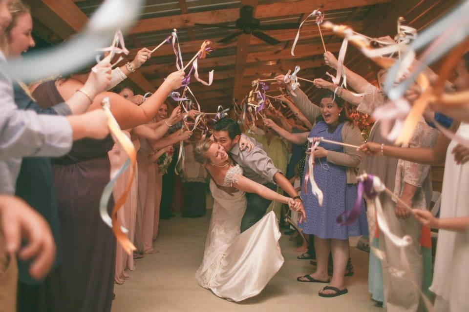Celebrating the newlyweds