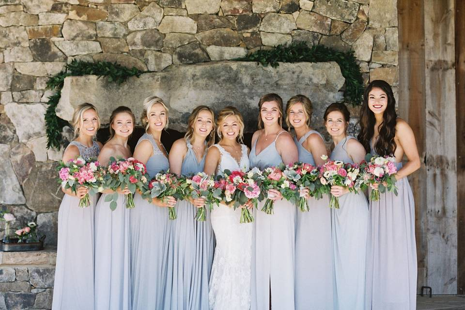 The bride with her best girls!