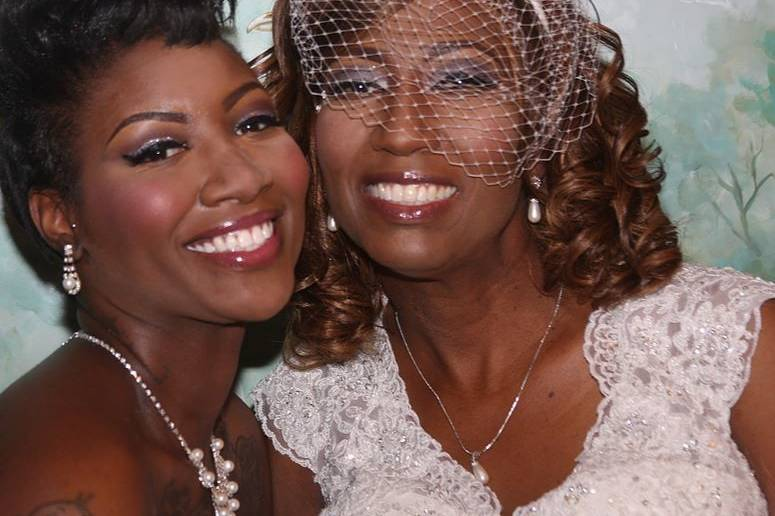 Bride and guest
