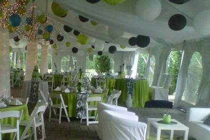 Setup for a party