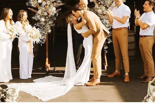 Desert-themed wedding