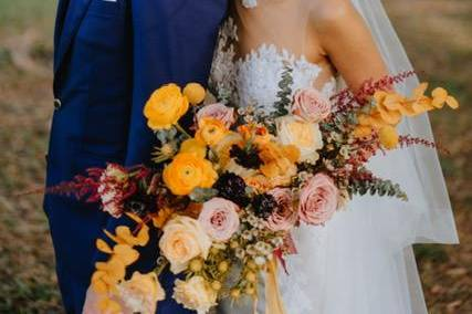 Bright, contemporary wedding