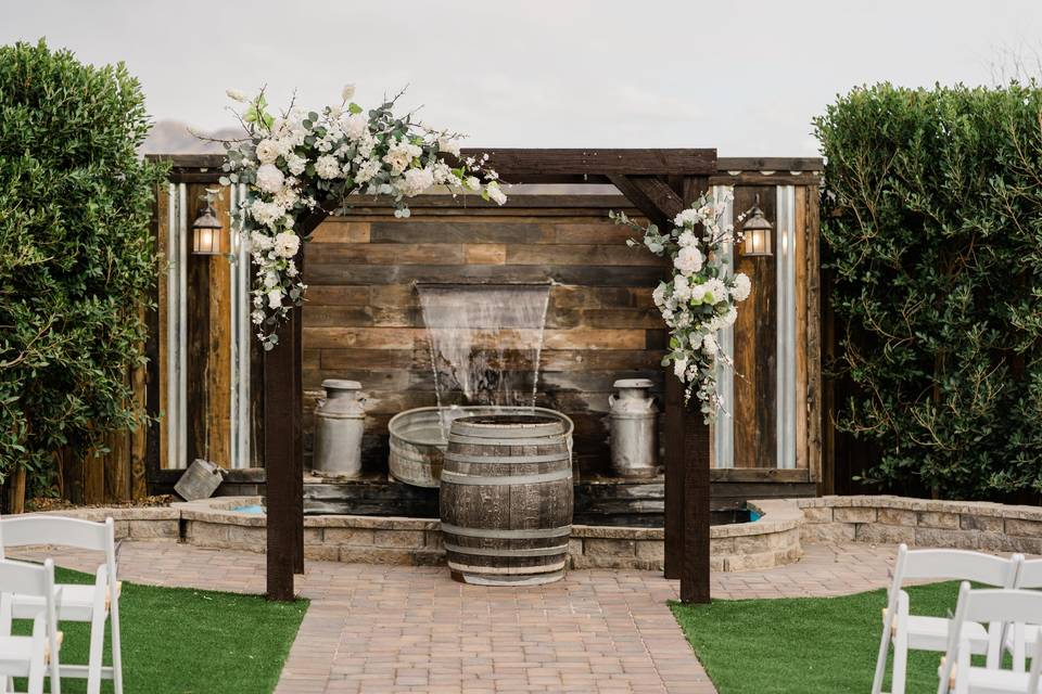 Waterfall ceremony site