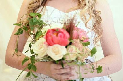 Bouquet and flower crown