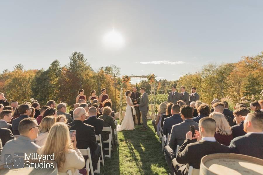 Ceremony on vineyard overlook
